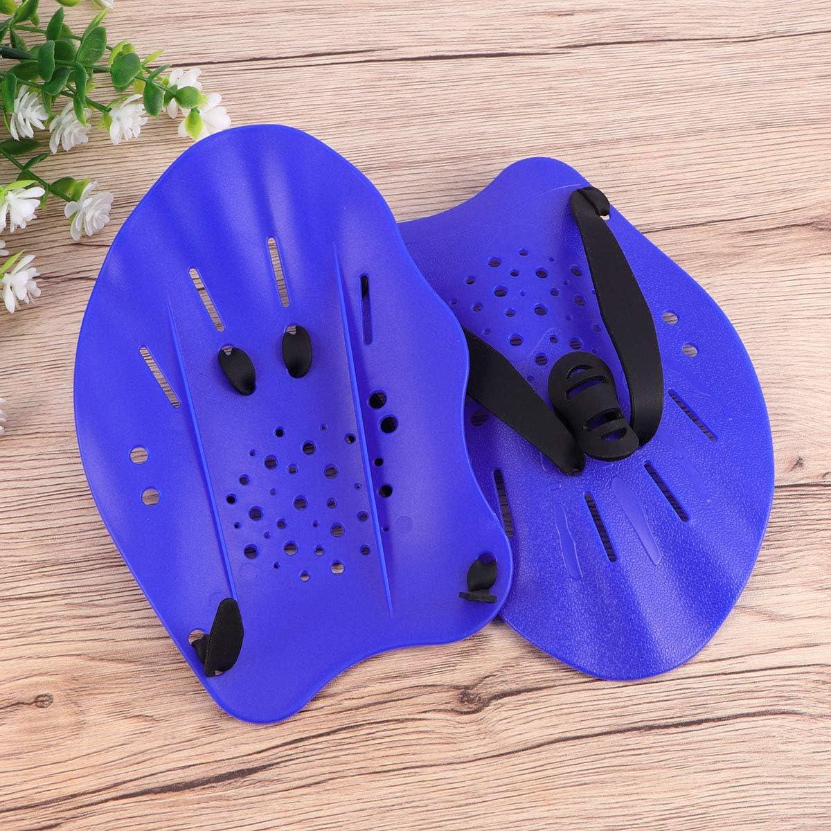LIOOBO Schwimmen Handpaddel Schwimmhandschuhe Training Schwimmh/äute f/ür M/änner Frauen Kinder Blau