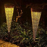 Qomolo Solar tuinlamp op zonne-energie voor buiten, led IP65 waterdicht, tuinverlichting op zonne-energie…