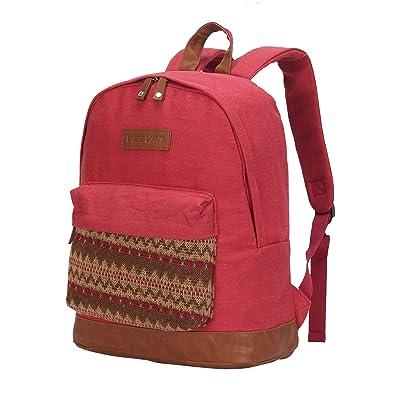Hynes Eagle Cute Canvas School Backpack Bookbags for Girls Boys