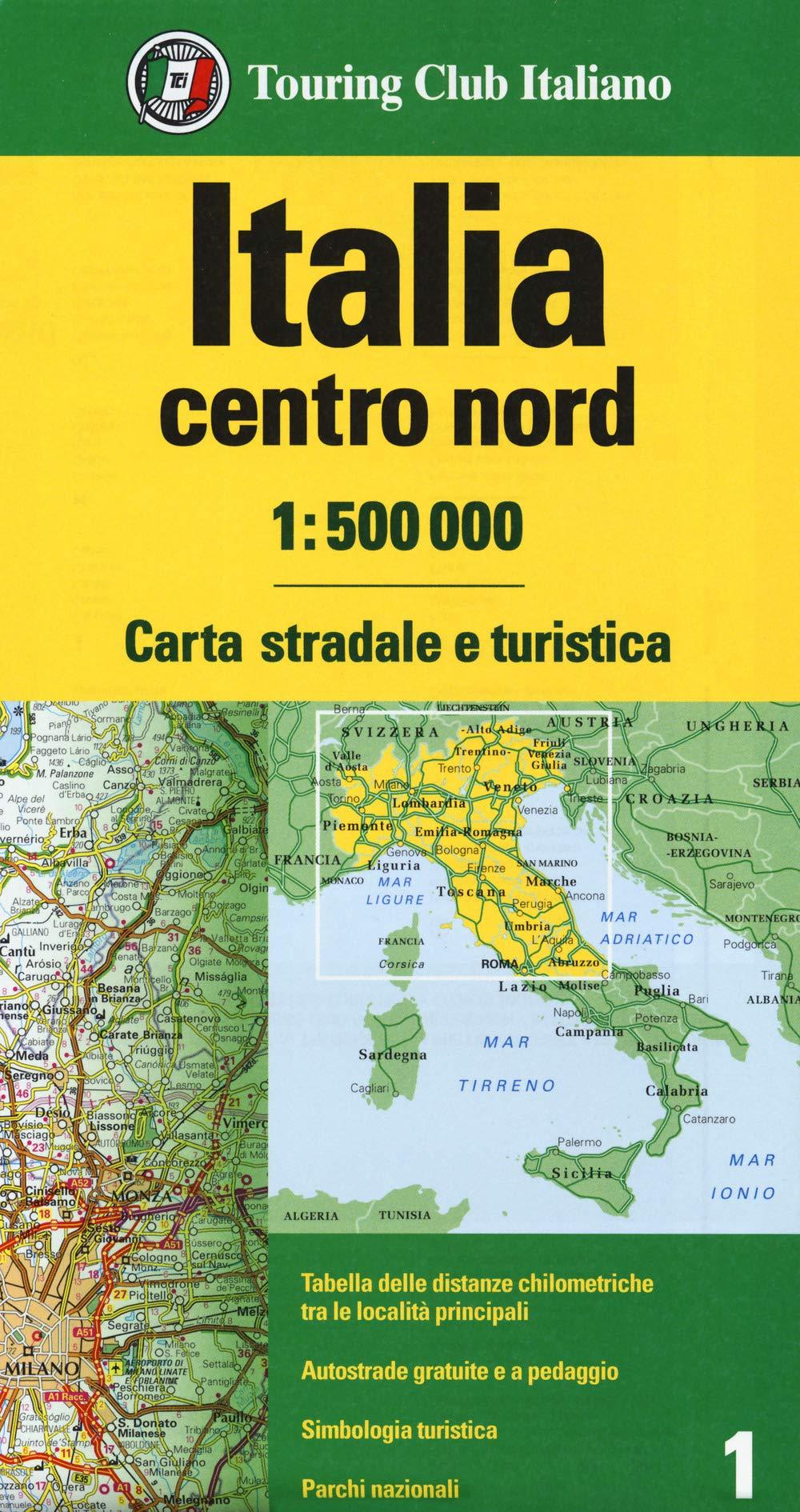 Italia Centro nord Cartina