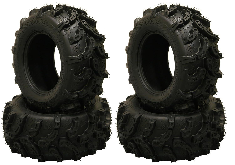 Mud Set 4 Premium WANDA ATV/UTV tires 25x8-12 25x8x12 Front & Rear ...