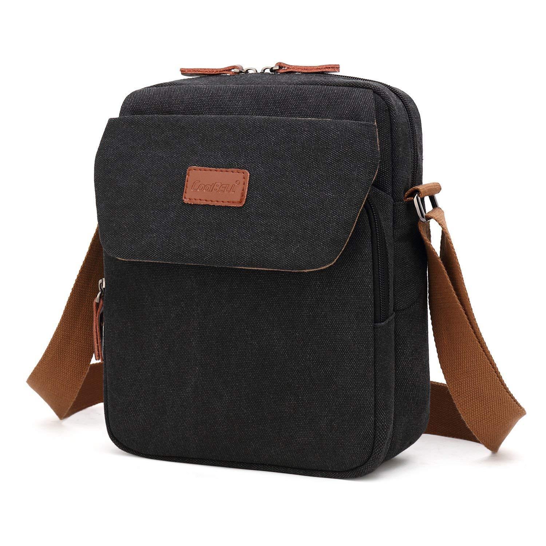 8895b47c3 Srotek Small Shoulder Bag Men's Messenger Bag Canvas Crossbody Bag ...