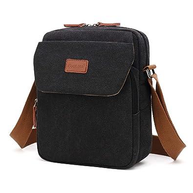Srotek Small Shoulder Bag Mens Messenger Bag Crossbody Bag Casual /& Travel Sling Bag Fits 10.6 Inch Tablet /& iPad