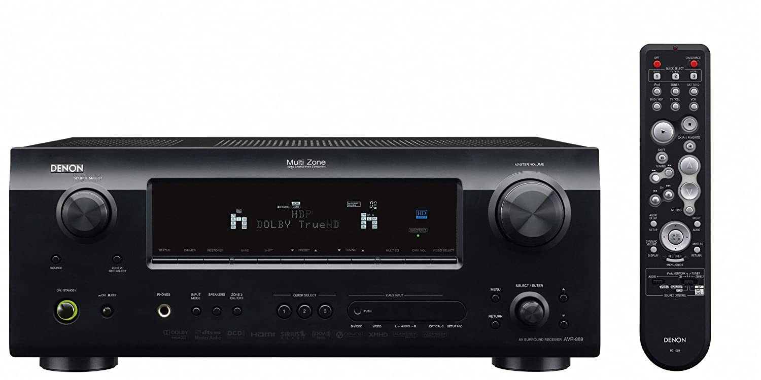 Amazon.com: Denon AVR-889 700-Watt 7.1 Channel Home Theater Receiver (Discontinued by Manufacturer): Home Audio & Theater