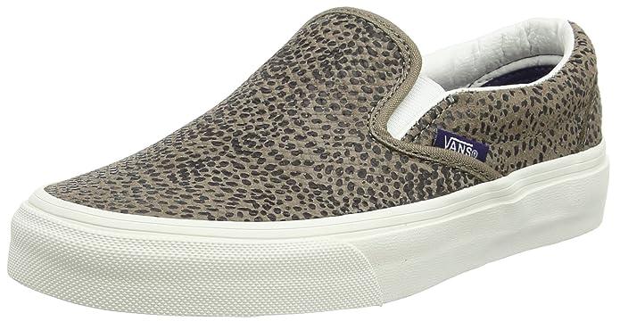 Vans Classic Slip Schuhe Unisex Damen Herren Erwachsene Nero Cheetah