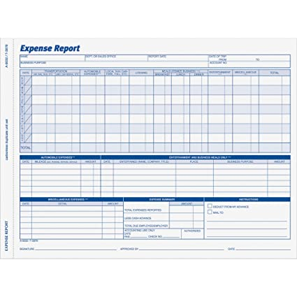 Amazon.com : Adams 9032ABF Weekly Expense Report Forms, 8.5X11, 2 ...