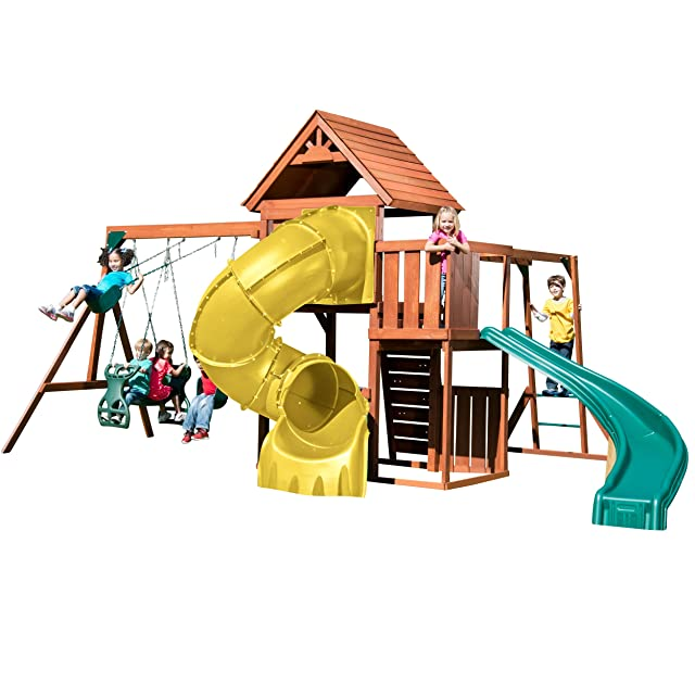 Swing-N-Slide PB 8272-TY Grandview Twist Deluxe Play Set with Two Slides
