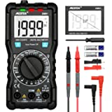 Digital Multimeter MESTEK AC DC Multimeters Current Voltage Auto-Ranging NCV Voltage Tester Amp Volt Ohm Hz Diode Resistance Meter with Battery Electric Test Lead Probes & Alligator Clips for Home Car