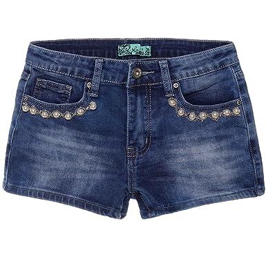 Junge viele modisch online zum Verkauf P.R.C Mädchen Jeans Shorts Kunst-Perlen Hot Pants Kurze Hose ...