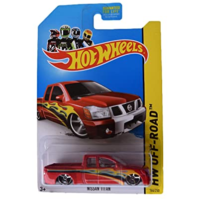 Hot Wheels Off Road Nissan Titan 164/250, red: Toys & Games