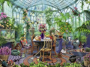 Ravensburger Greenhouse Morning 500 Piece Puzzle for Adults - Every Piece is Unique, Softclick Technology Means Pieces Fit Together Perfectly,Multi,19.5