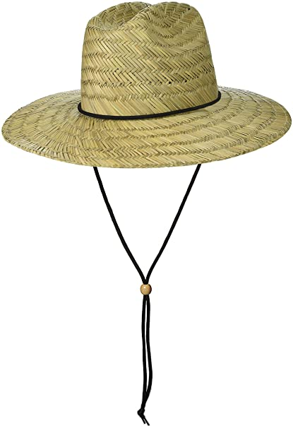 Image Unavailable. Image not available for. Color  Brooklyn Surf Men s  Straw Sun Classic Beach Hat Raffia Wide Brim ... c0740b7f23d3