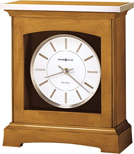 Howard Miller Urban Mantel Clock 630-159 Urban Casual Home Decor with Quartz, Dual-Chime Movement Volume Control