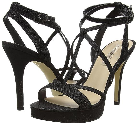 Algar 36 Sandales Noir Ouvert Noir Femme Bout Amazon Menbur 15d0xYq1