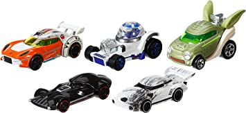Hot Wheels - Set de 5 Coches Star Wars (CGX36): Amazon.es: Juguetes y juegos