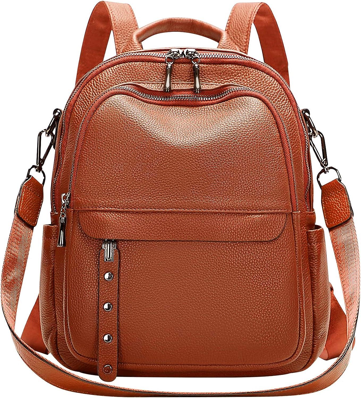 orange  brown  red  gray bag Handmade original women/'s bag retro casual bag backpack soft leather backpack top layer cowhide bag