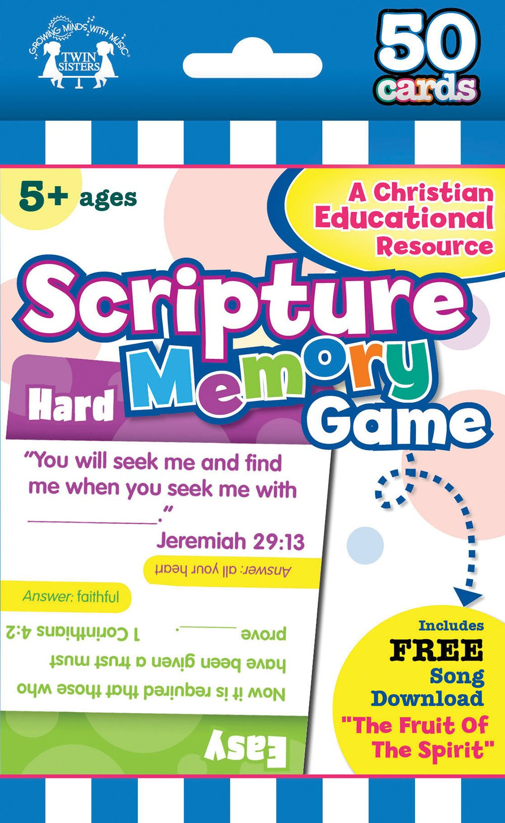 Scripture Memory Christian 50-Count Game Cards (I'm Learning the Bible Flash Cards)