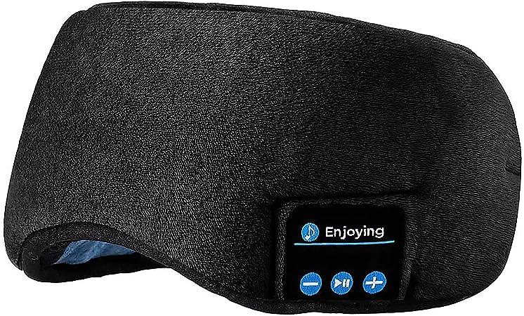 Amazon.com: Sleep Headphones Bluetooth Eye Mask, Joseche Wireless Bluetooth 5.0 Headphones Music Travel Sleeping Headphones Handsfree Sleeping Mask with Built-in Speakers Microphone Washable (Black): Electronics