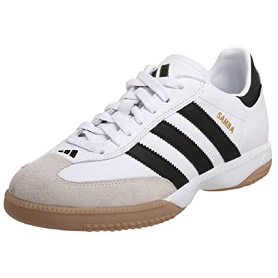 adidas Performance Men's Samba Millennium Indoor Soccer Cleat,WhiteBlack Gold,6.5