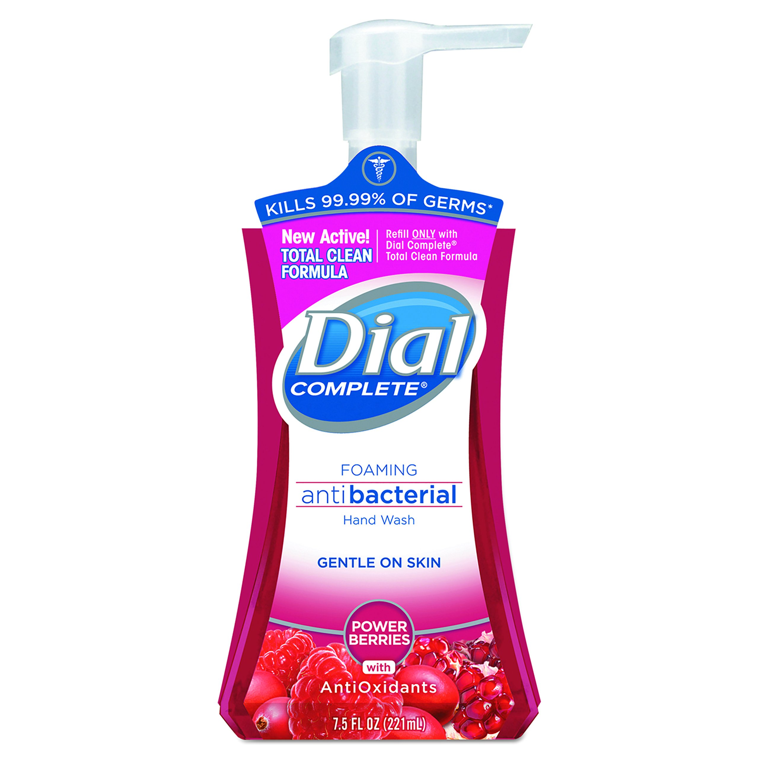 Dial 03016 Antibacterial Foaming Hand Wash, Power Berries, 7.5 oz Pump Bottle (Case of 8)