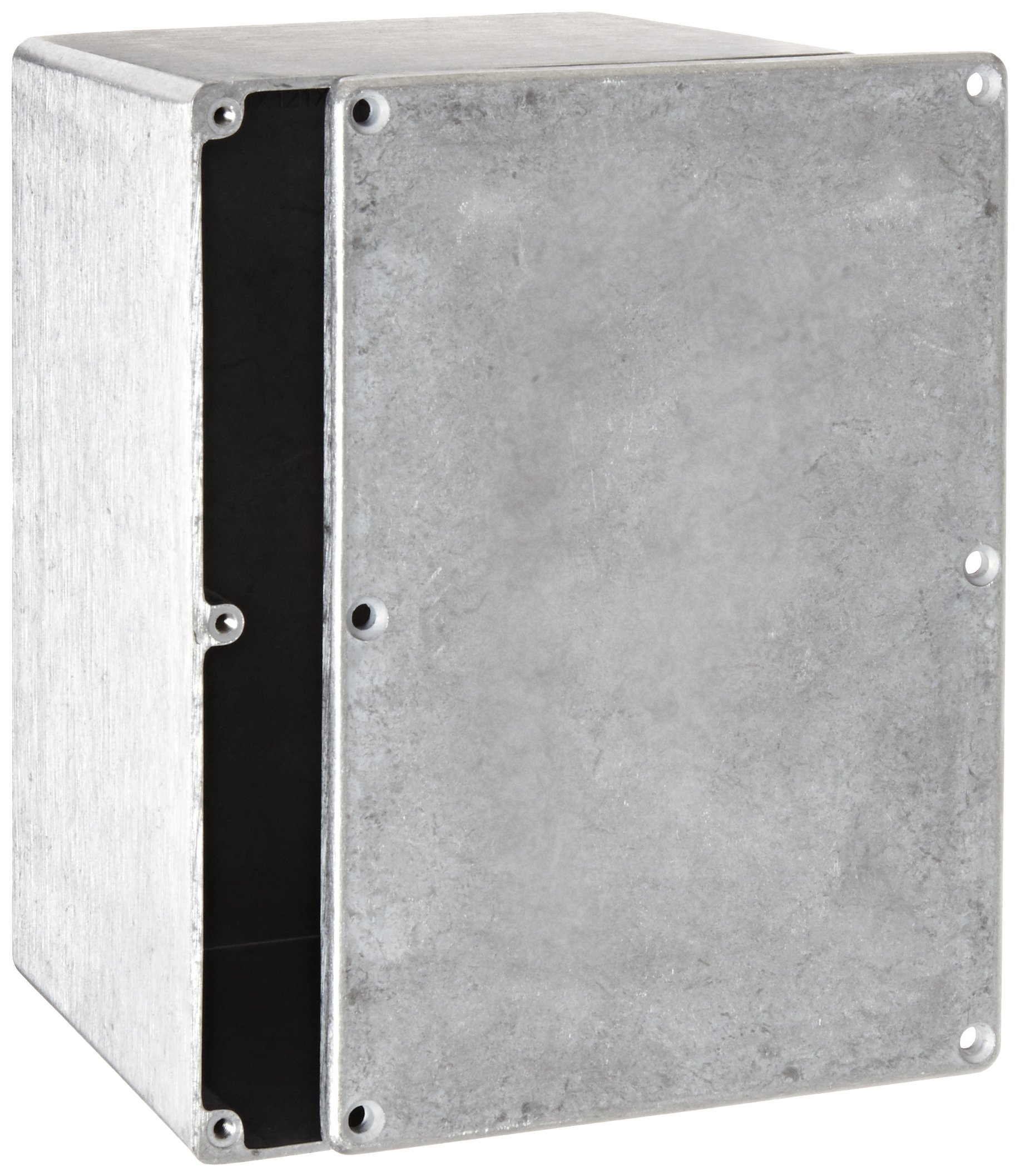 BUD Industries CN-5710 Die Cast Aluminum Enclosure, 6-49/64'' Length x 4-49/64'' Width x 4-13/64'' Height, Natural Finish