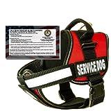Real Service Dog Vest Harness + 50 FREE ADA Info Cards Kit