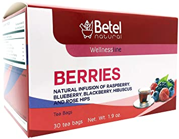 Amazon.com : Red Berries Tea / Frutos Rojos Te by Betel ...