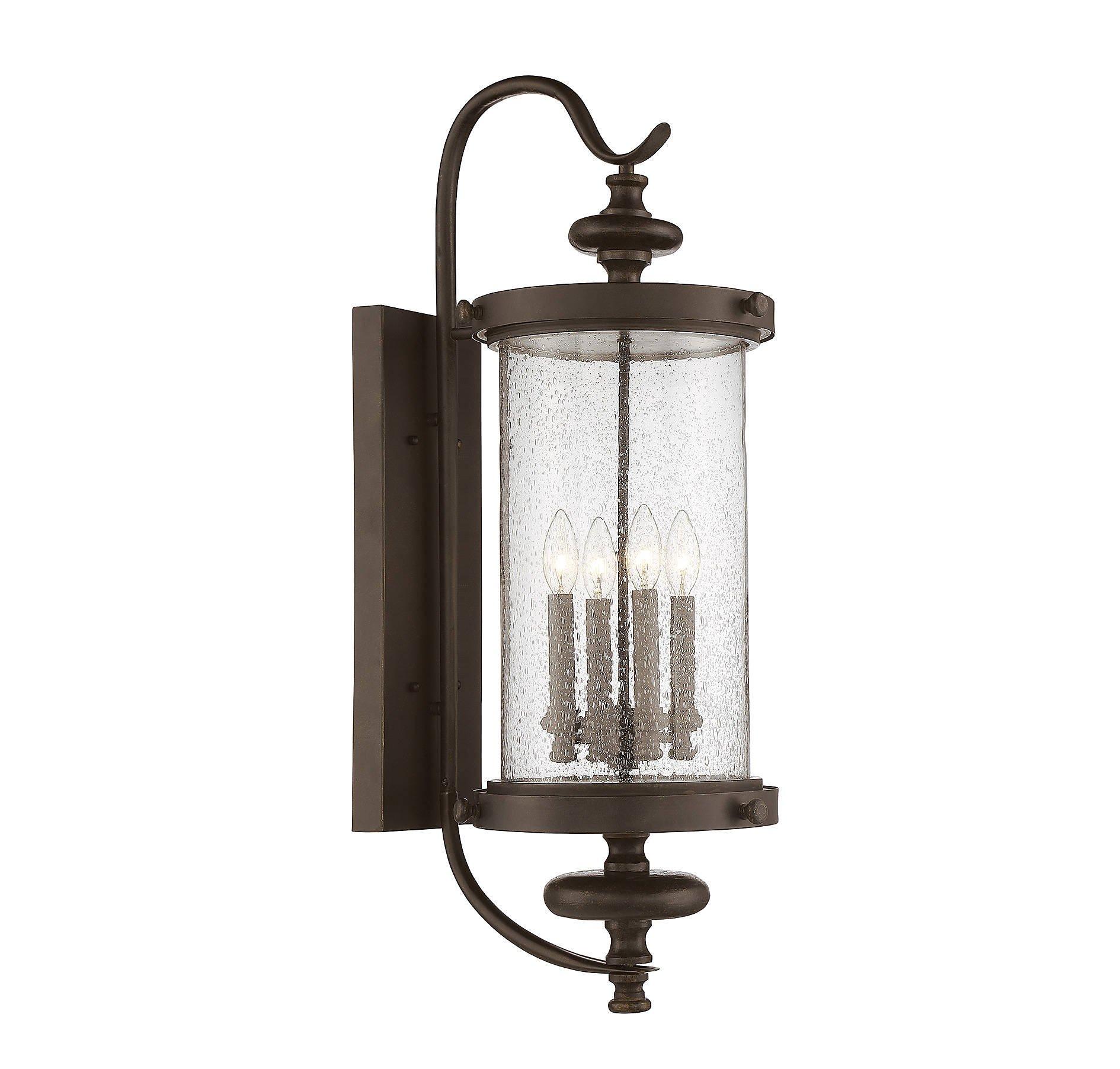 Savoy House 5-1224-40 Four Light Wall Lantern in Walnut Patina