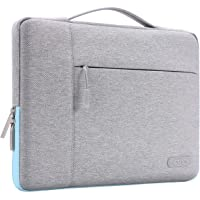 MOSISO Maletín Compatible 13-13.3 Pulgadas MacBook Pro Retina/MacBook Air/Surface Laptop 2 2018 2017/Surface Book 2/1, Poliéster Protectora Multifuncional Funda Bolso, Gris & Azul Caliente