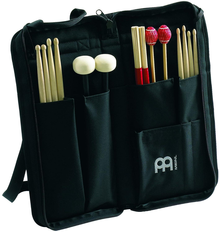 Noir Black with Design Meinl Percussion Msb-1/Heavy Duty Baguettes//Maillet Sac avec poche ext/érieure