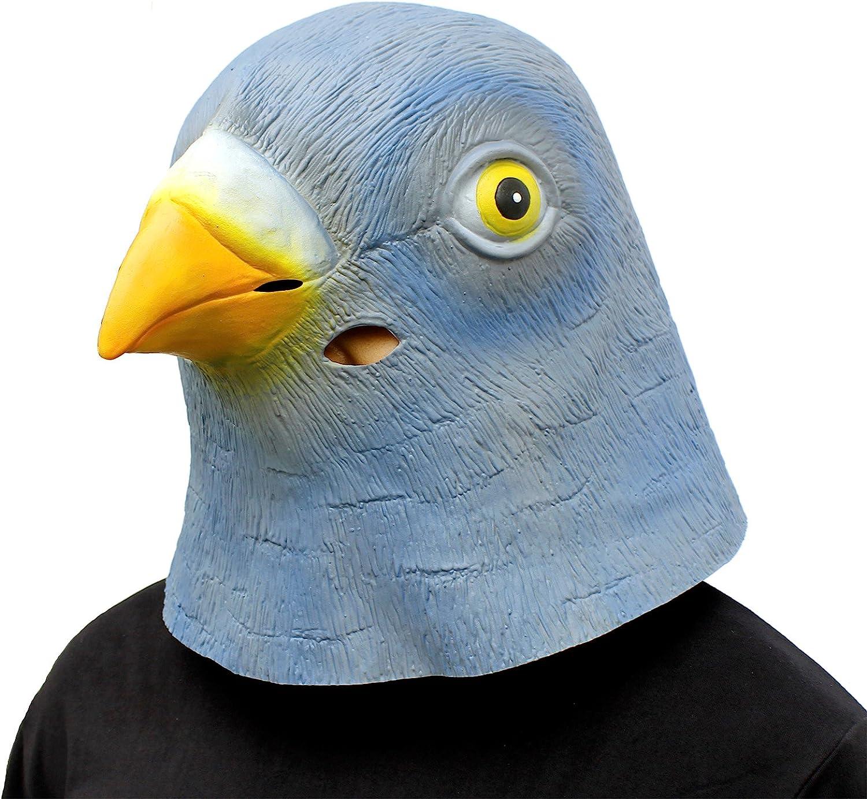 CreepyParty Máscara de Cabeza de Látex Animal Paloma
