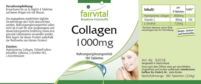Comprimidos de Colágeno - dosis alta - 180 comprimidos - con la ...