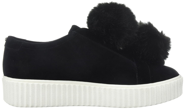 The Fix Women's Talon Slip-on Poms Fashion Sneaker B072V7D8NV 6 B(M) US|Black Suede