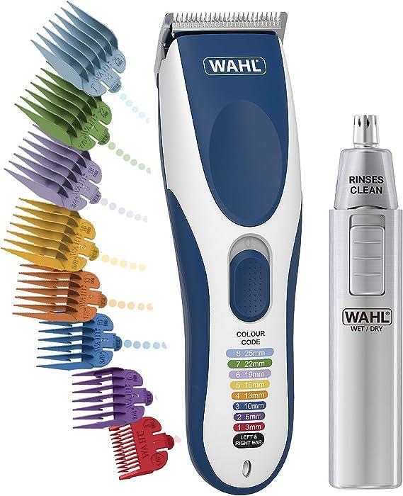 Wahl Cordless Colour Pro - Guías de cortapelos con código de color y recortador nasal húmedo y seco: Amazon.es: Salud y cuidado personal