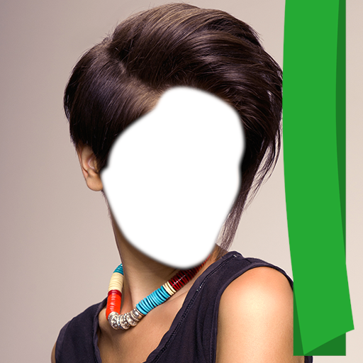 Woman Short Hair Photo Montage (Best Hairspray For Bangs)