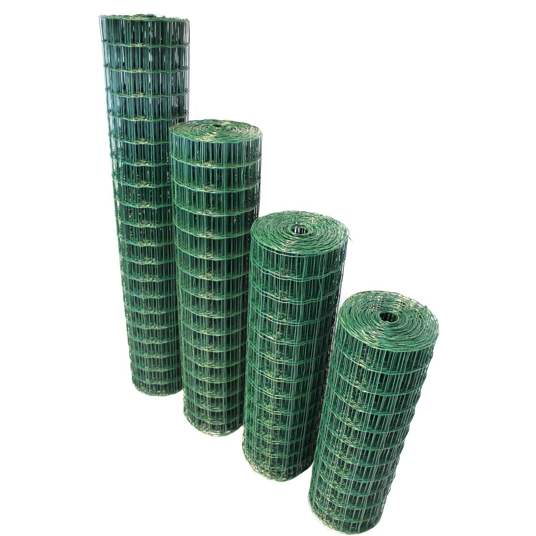 TOP MULTI Maschendrahtzaun Wildzaun Gartenzaun PVC-beschichtet grün ...