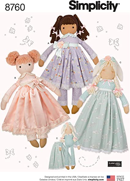 ONE Size OS Simplicity Patterns US8760OS Crafts