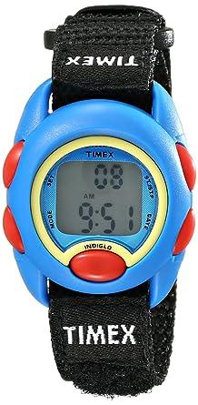 5b7df8c22d Amazon.com: Timex Youth Kids | Black Strap Blue Case | Digital Watch ...