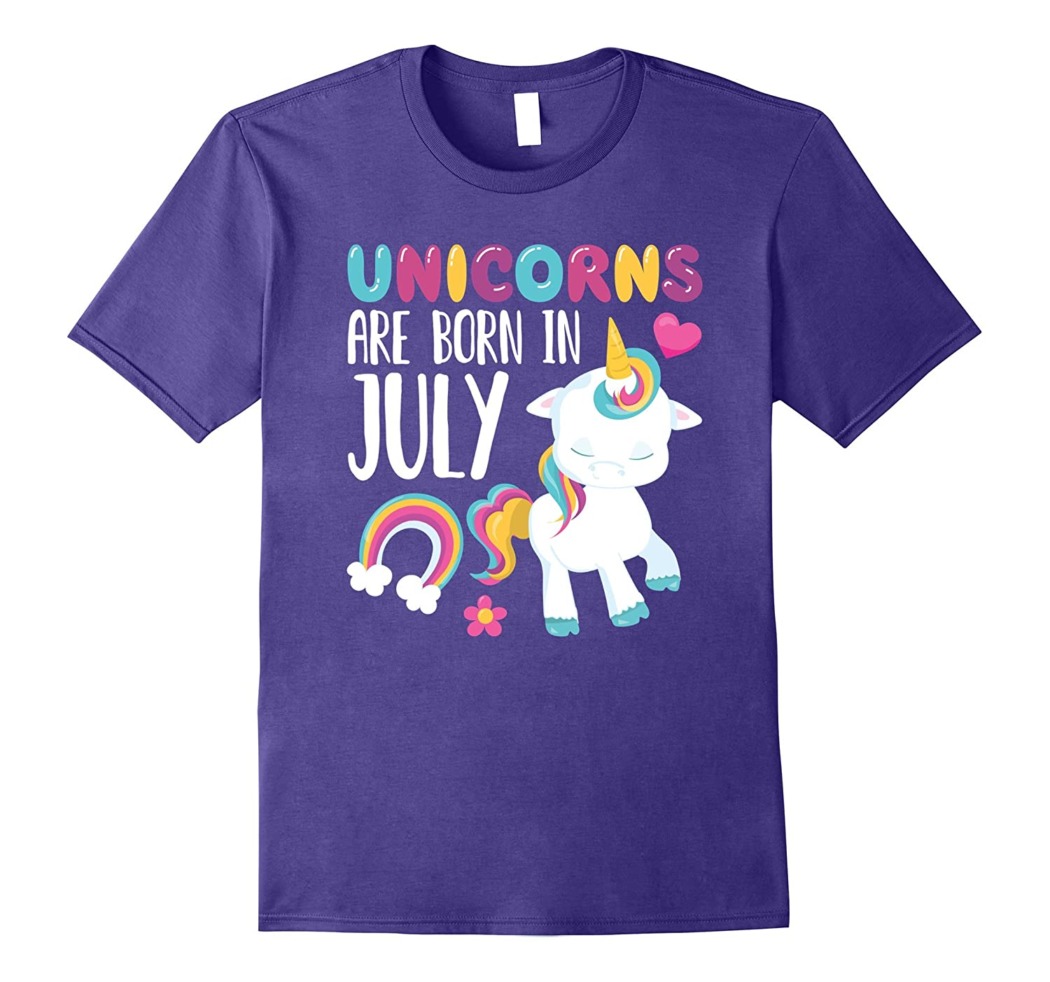 Unicorns Are Born in July Novelty T-Shirt-PL