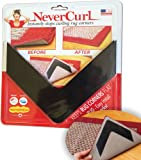 Amazon Price History for:NeverCurl - Instantly Stops Rug Corner Curling. Safe for wood floors. For Indoor & Outdoor Rugs. Includes 4 pcs. Not an anti-slip pad. Made in USA.