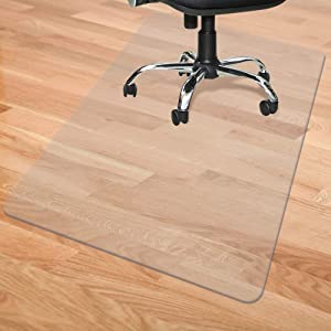 "Chair Mat for Hardwood/Tile/Laminate/Vinyl/Concrete/Linoleum Hard Floors 48"" x 36"" Heavy Duty Hard Flooring Protector Covering Protection Office Chair Mats for Home Desk"