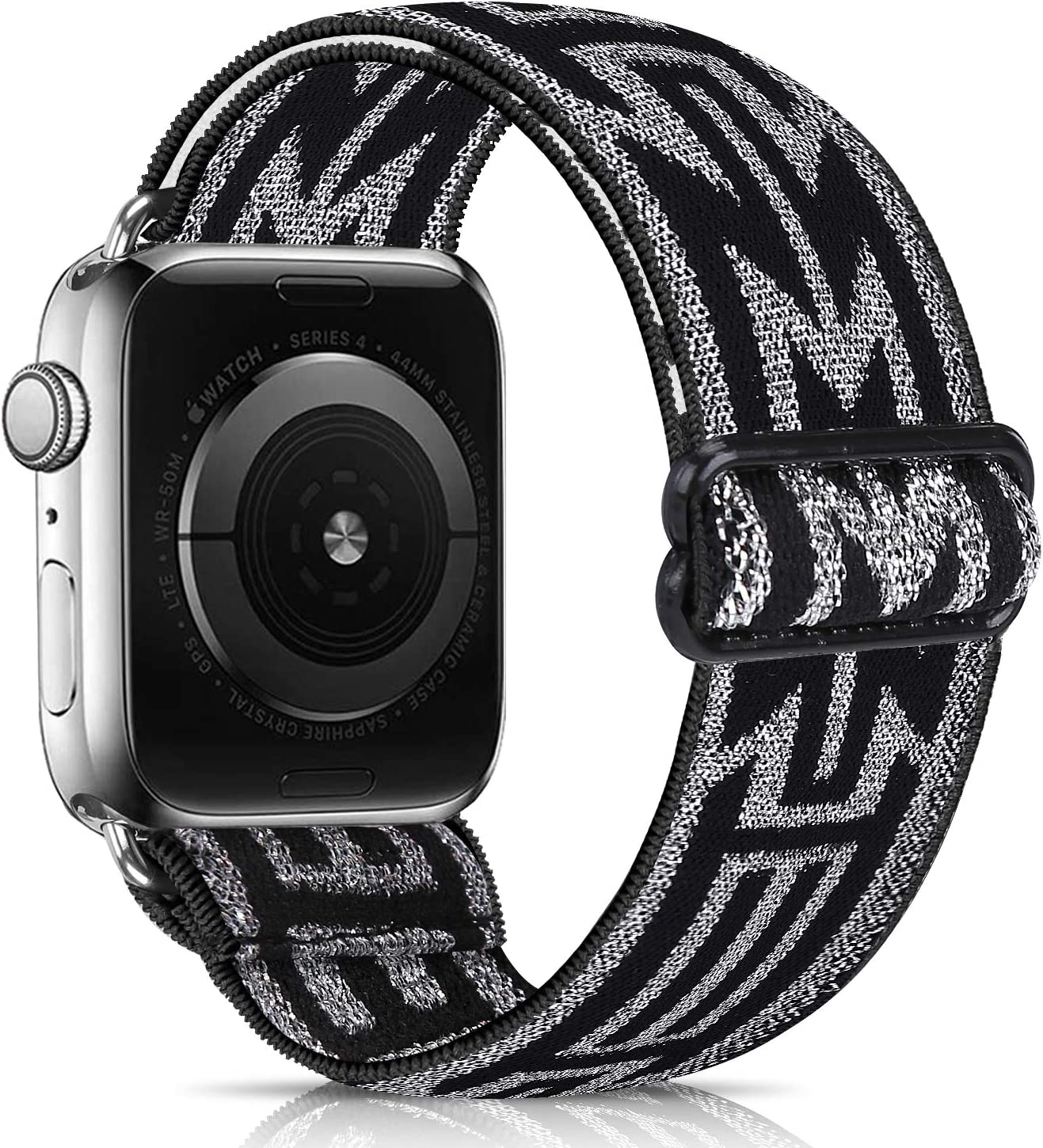 URU Shield Compatible with Apple Watch Elastics Band for Women Men,Pattern Stretch Bands Fashion Handmade Replacement Strap for iWatch Series 6 5 4 3 2 1/SE