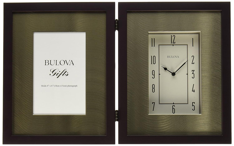 Amazon bulova winfield picture frame clock wall clocks jeuxipadfo Gallery