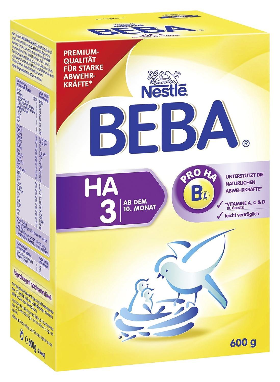 BEBA HA 3 Hypoallergene Folgenahrung - ab dem 10. Monat - 6er Pack (6 x 600 g)