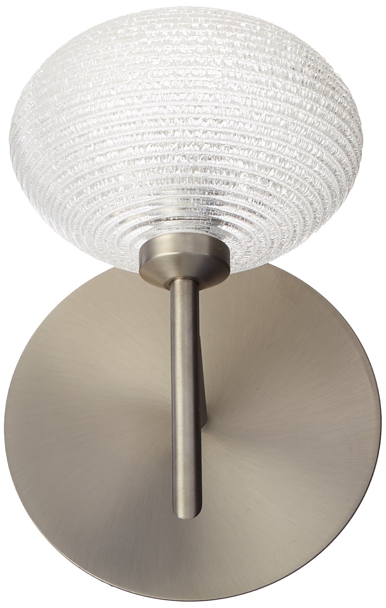 Besa Lighting 1SW-5612GL-SN 1X40W G9 Lasso Wall Sconce with Glitter Glass, Satin Nickel Finish