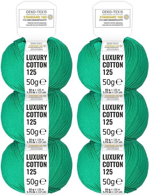 HANSA-FARM 100% algodón Mercerizado en 15 Brillantes Colores - Set ...