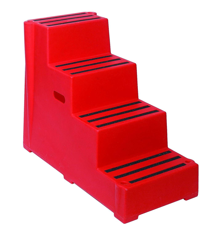 2/Banda de rodadura resistente bloque de seguridad de pl/ástico rojo pasos