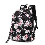 Leaper Fashion Floral Laptop Backpack Women Daypack Travel Bag Satchel Handbag