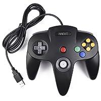 iNNEXT Retro 64-Bit Controller USB Gamepad N64 PC-Controller Joypad Joystick Für Windows Mac PC Raspberry Pi,Schwarz