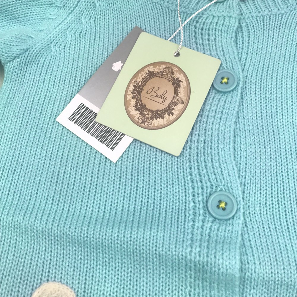 Baly Selective Girls Knitted Cardigans Sweaters Coat Button Down Outwear Mint Blue Chicken 18M 2T 3T 4T 5T 6T